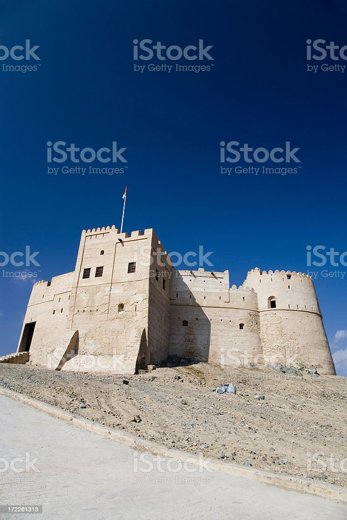 Desert Fortress United Arab Emirates royalty-free stock photo