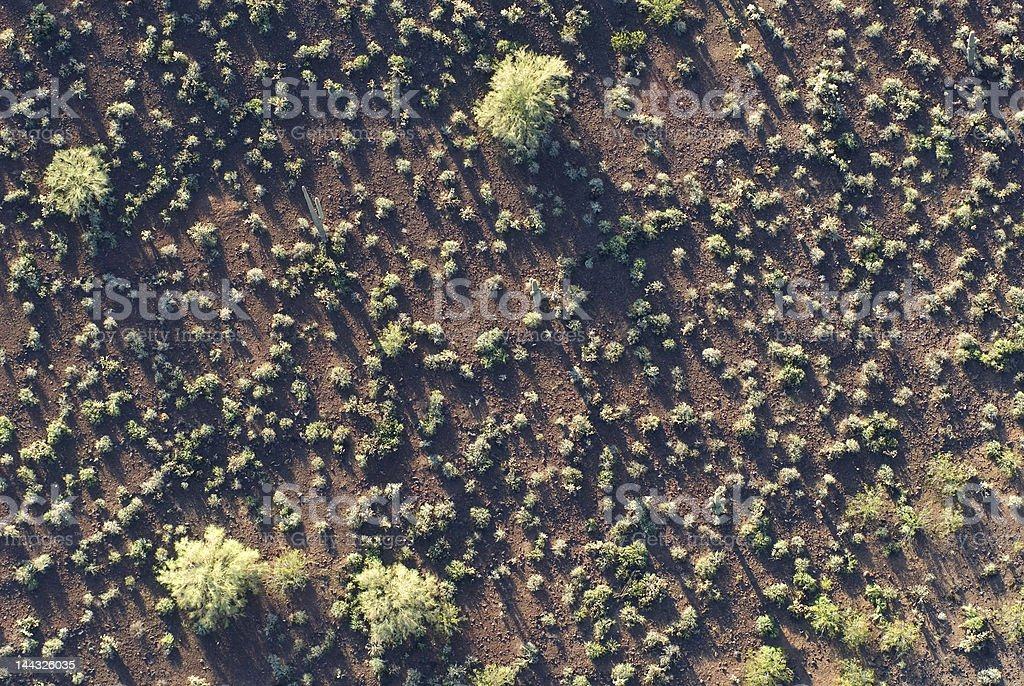desert from above royalty-free stock photo