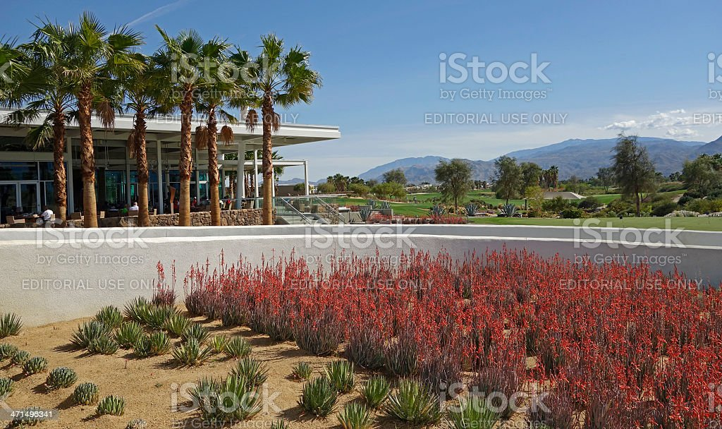 Desert Gardens ,Clubhouse And Golf Course stock photo
