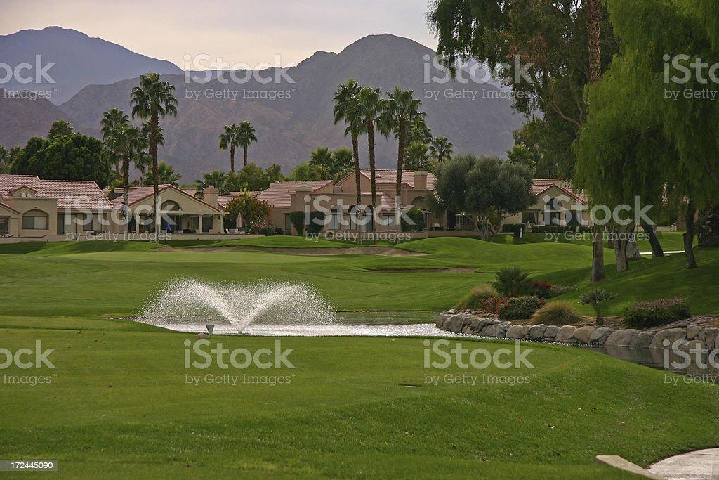 Desert Golf Course II stock photo