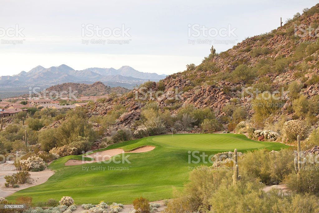 Desert Golf Course in United States Southwest stock photo