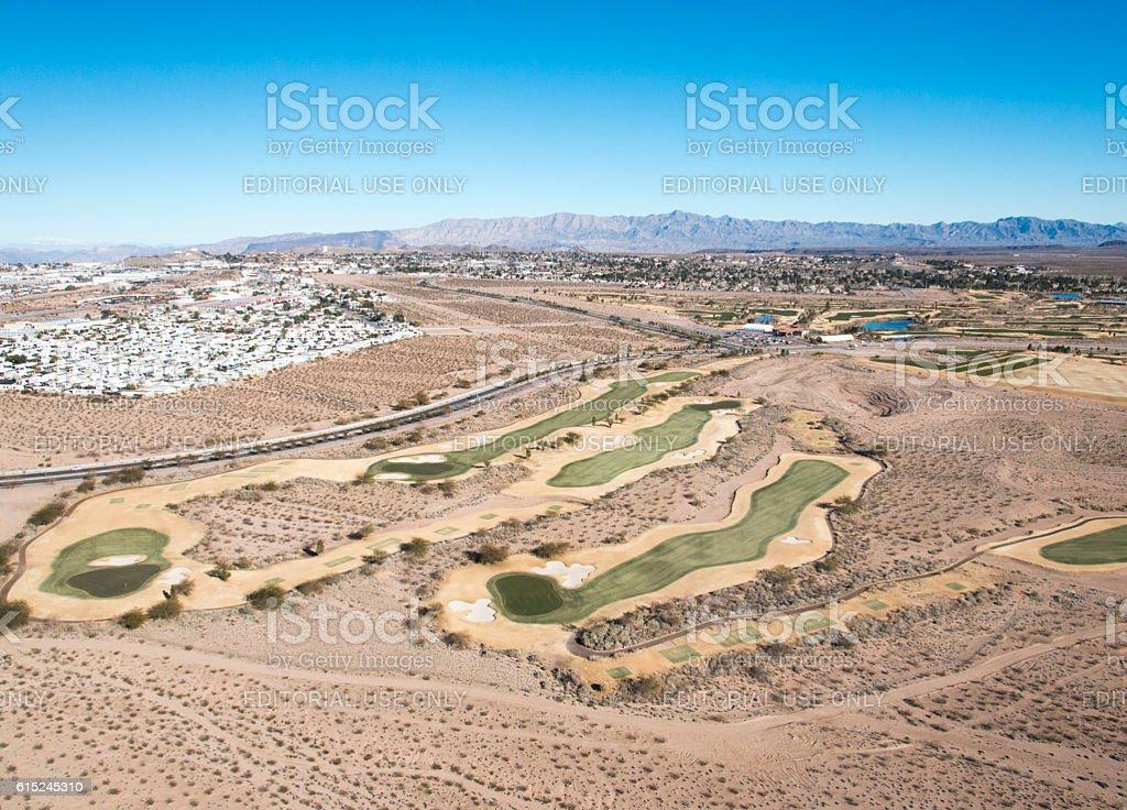 Desert Golf stock photo
