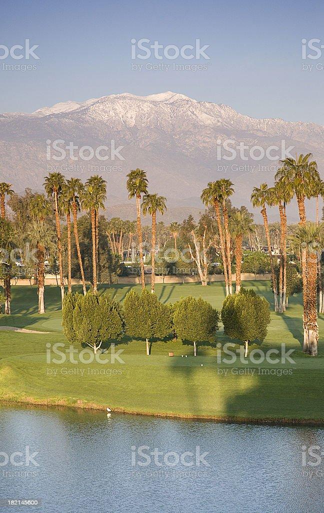 Desert golf resort royalty-free stock photo