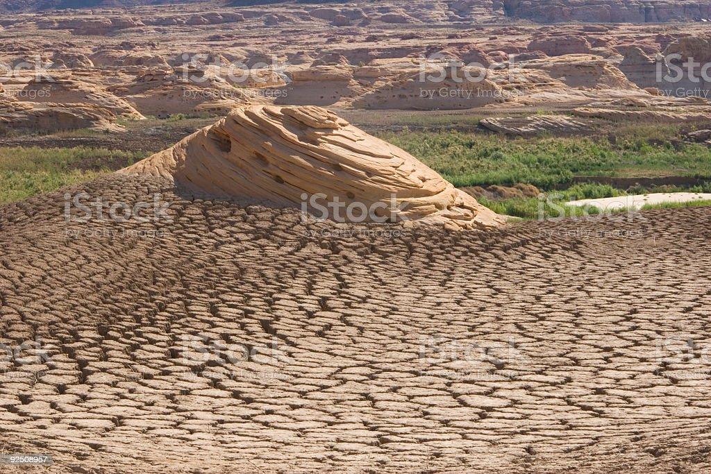 Desert Haystacks royalty-free stock photo
