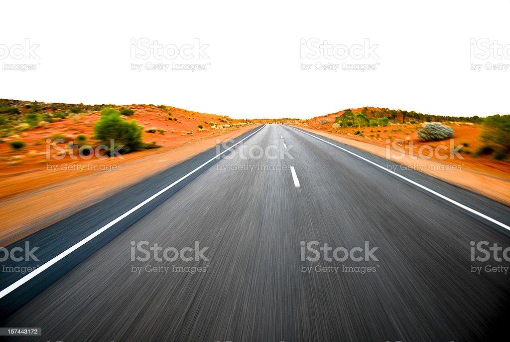 Desert Highway (high key) royalty-free stock photo