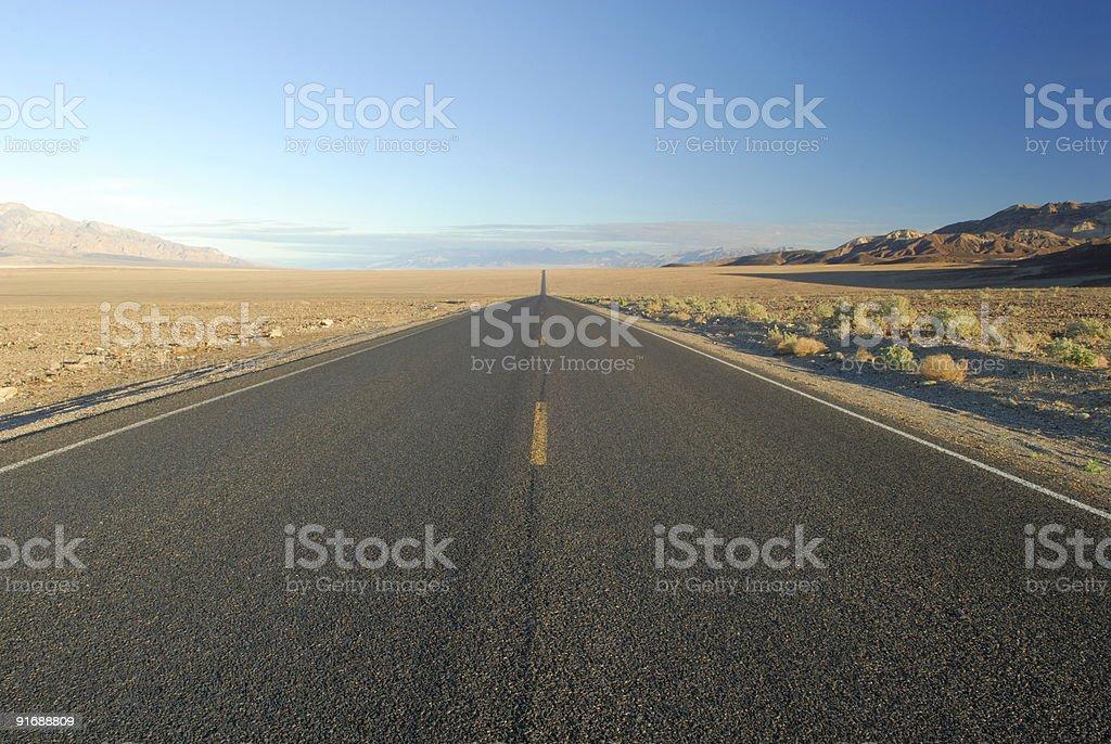 Desert highway royalty-free stock photo