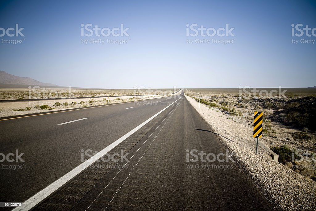 desert highway royalty-free stock photo