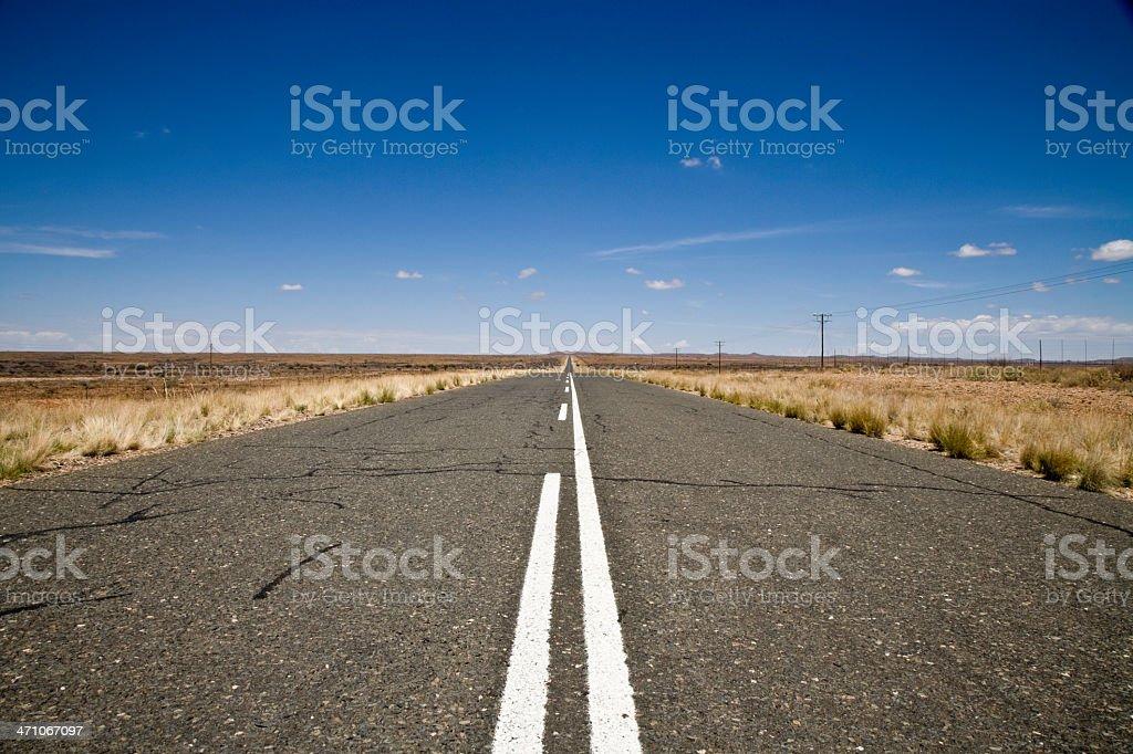 Desert Highway through Namibia royalty-free stock photo