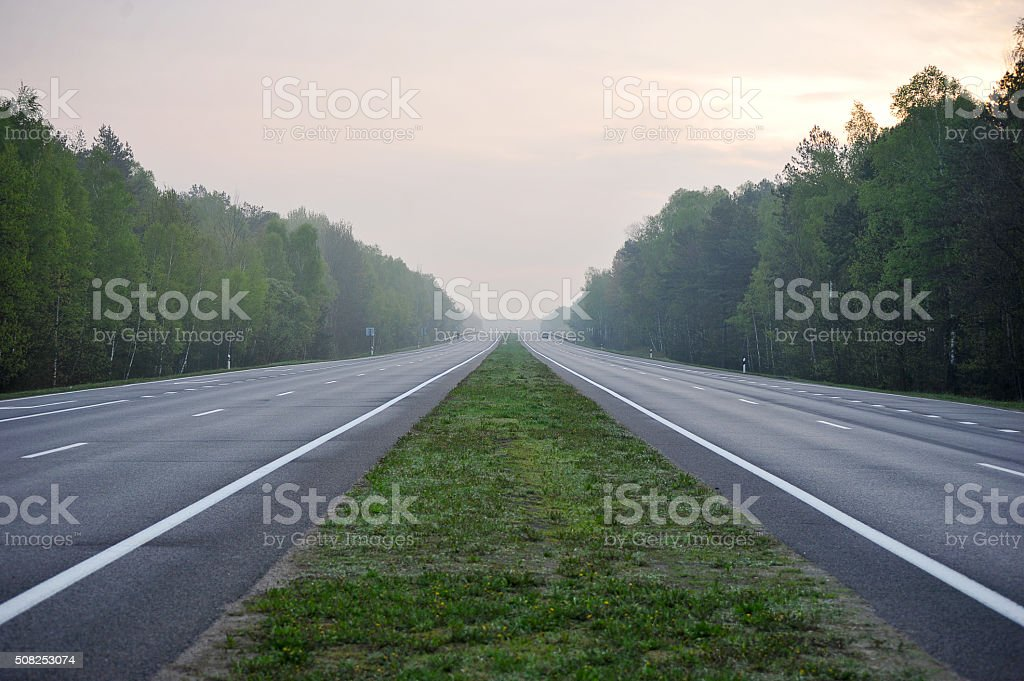 desert highway without a car stock photo