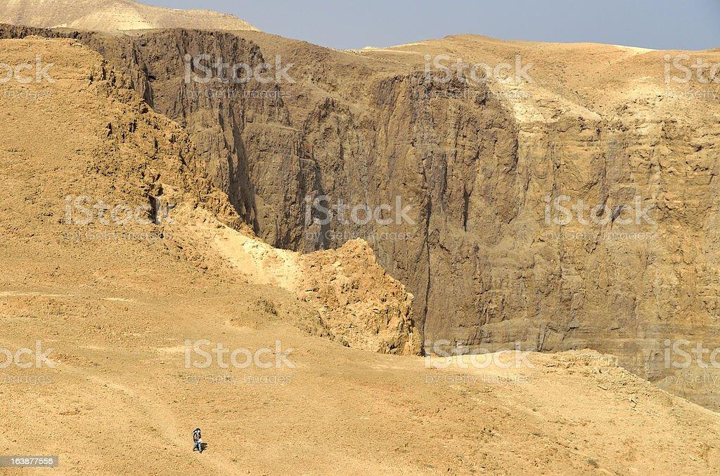 Desert hiking. royalty-free stock photo