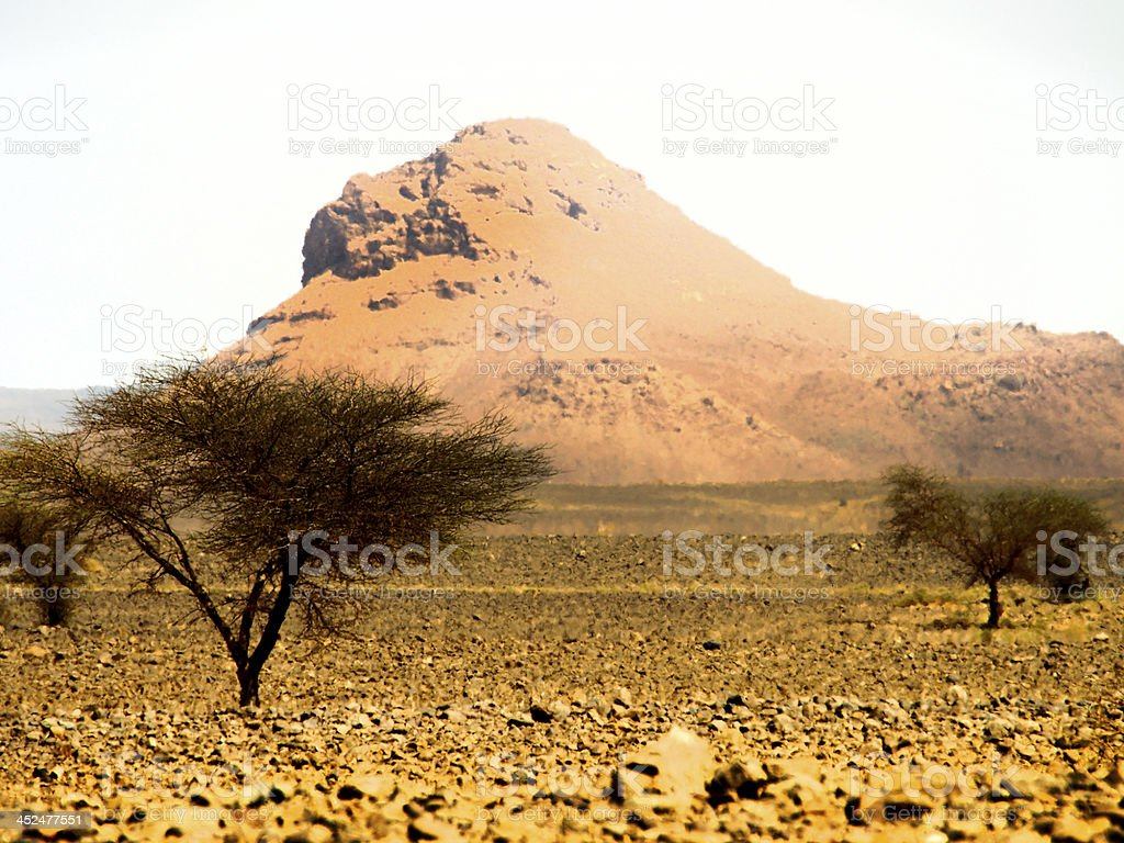 desert hill in Morocco stock photo