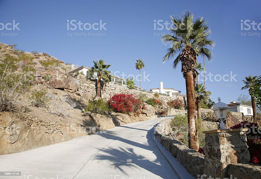 Desert Hilllside Modernism Living. royalty-free stock photo
