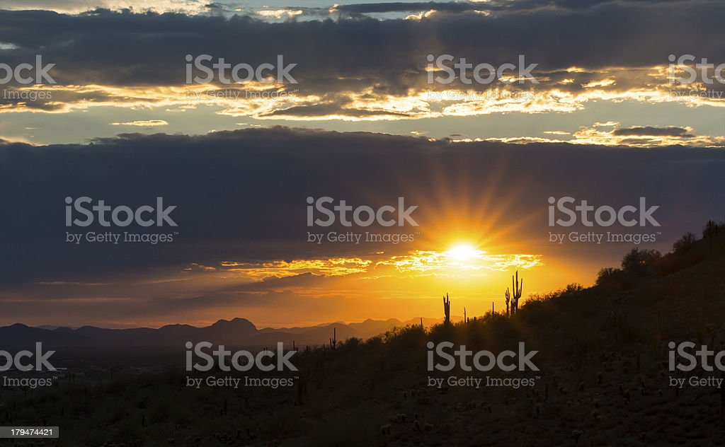 Desert Hills Sunset royalty-free stock photo