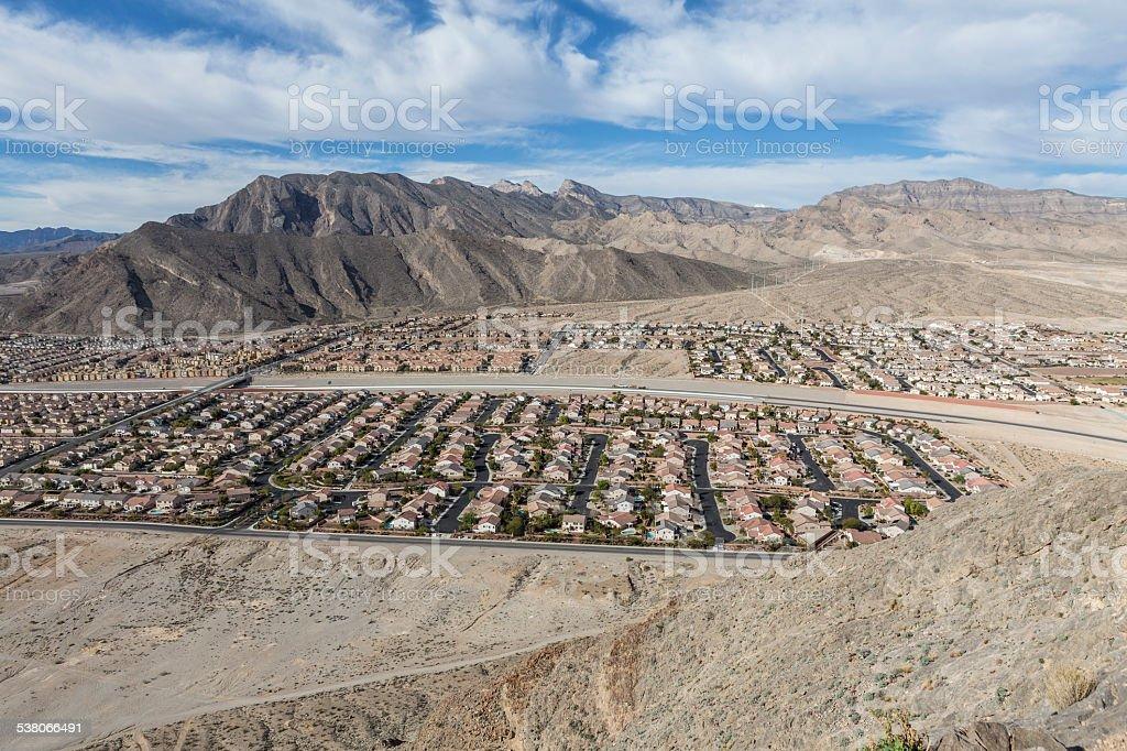 Desert Housing near Las Vegas stock photo