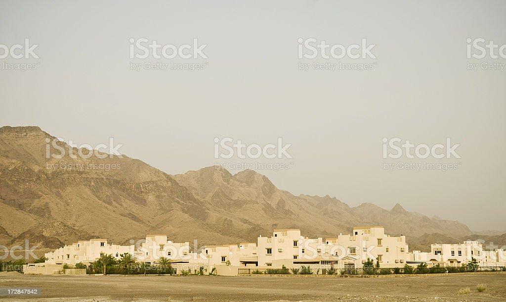Desert Housing Settlement royalty-free stock photo