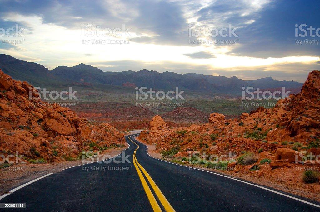 Desert Hwy stock photo