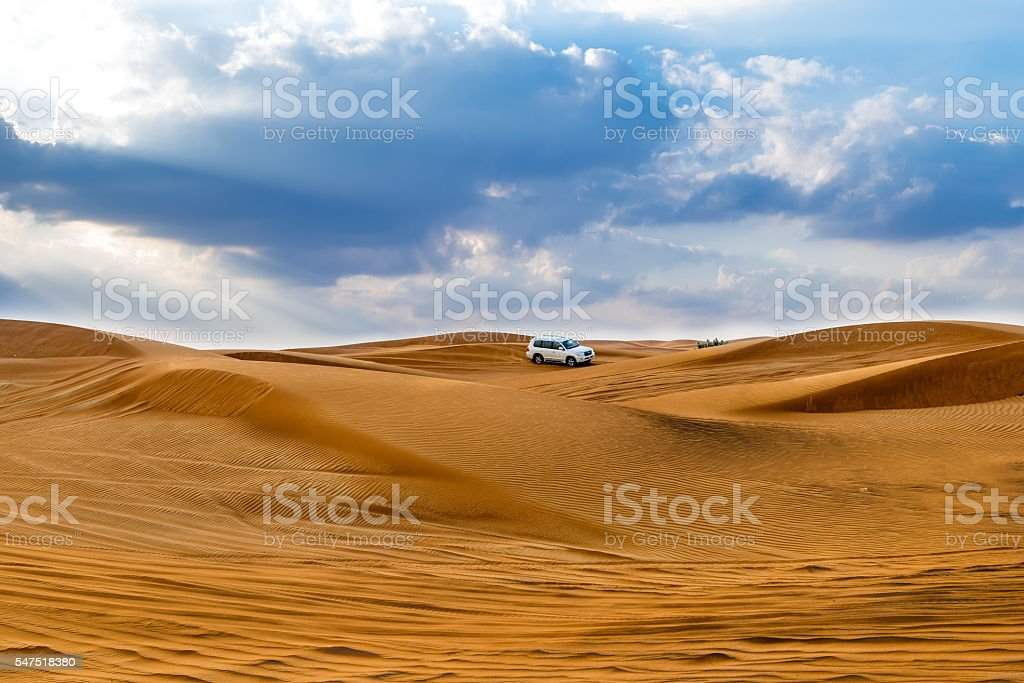 Desert in Dubai, United Arab Emirates stock photo
