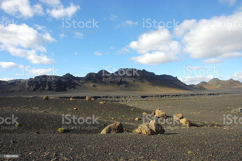Desert in Iceland. royalty-free stock photo