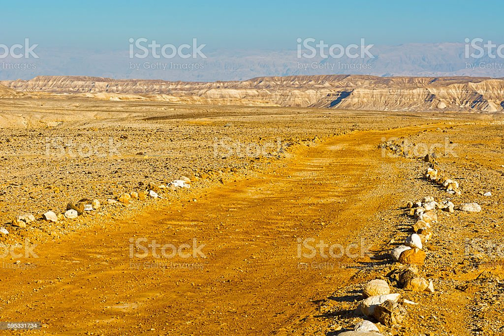 Desert in Israel stock photo