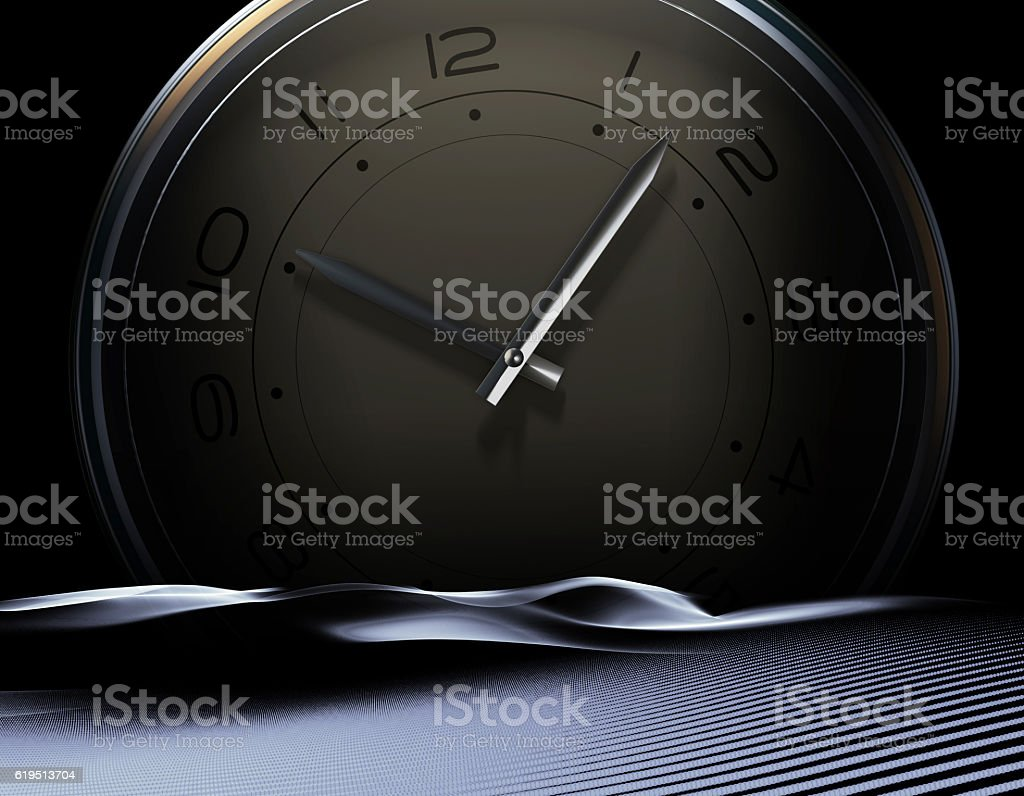Desert inside the table, the accumulation of time stock photo