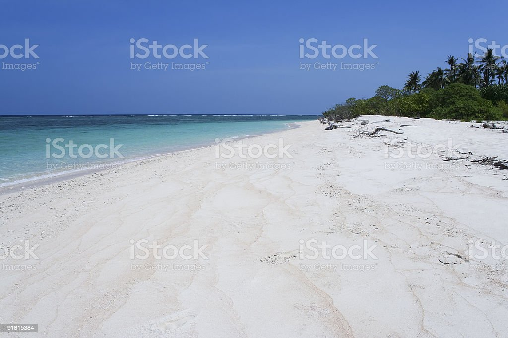 desert island beach blue sea philippines stock photo