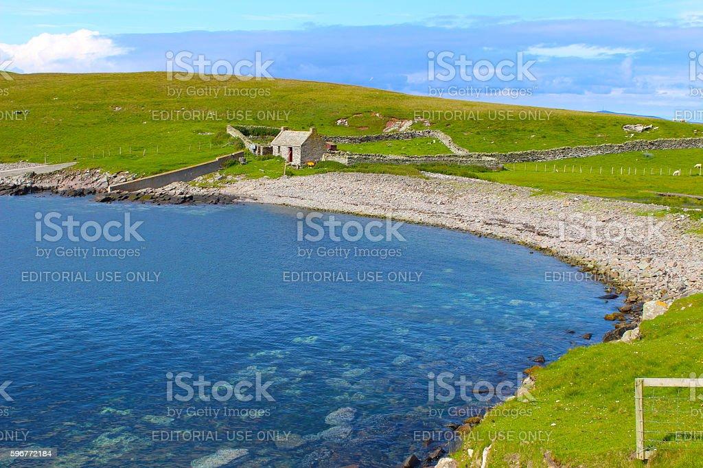 Desert Island Cottage stock photo