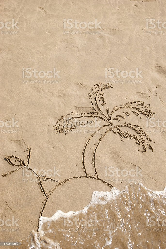 Desert Island in the Sand royalty-free stock photo