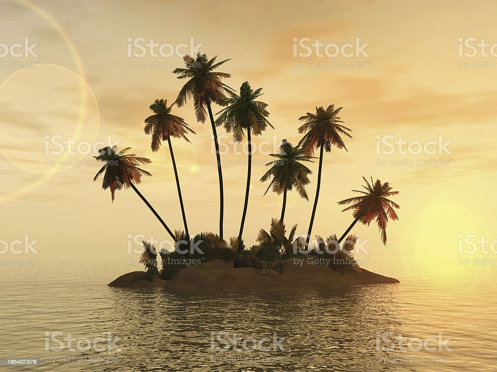 Desert Island royalty-free stock photo