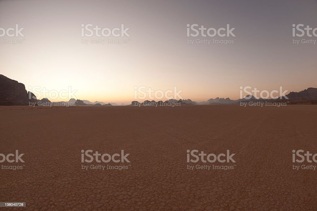 Desert landscape at sunrise royalty-free stock photo