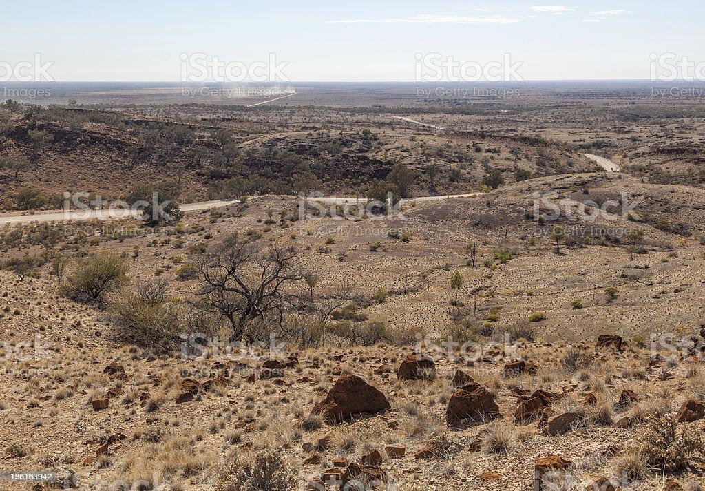 Desert landscape. Flinders Ranges. South Australia royalty-free stock photo