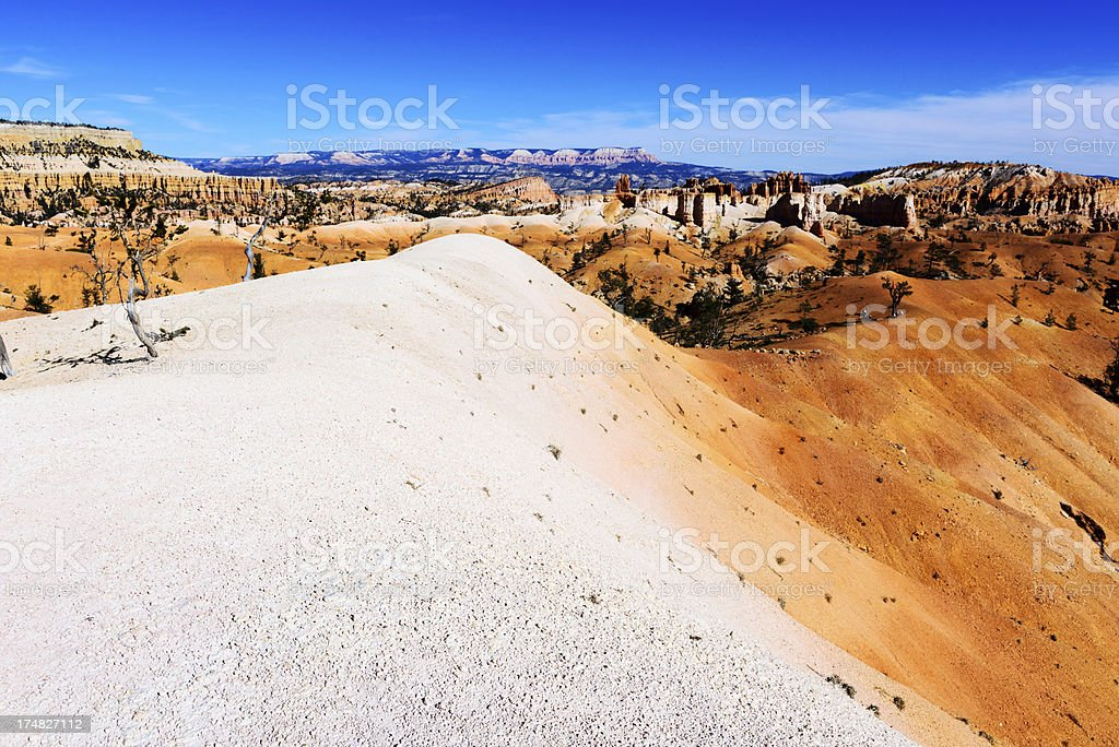 Desert landscape  in Bryce Canyon National Park royalty-free stock photo