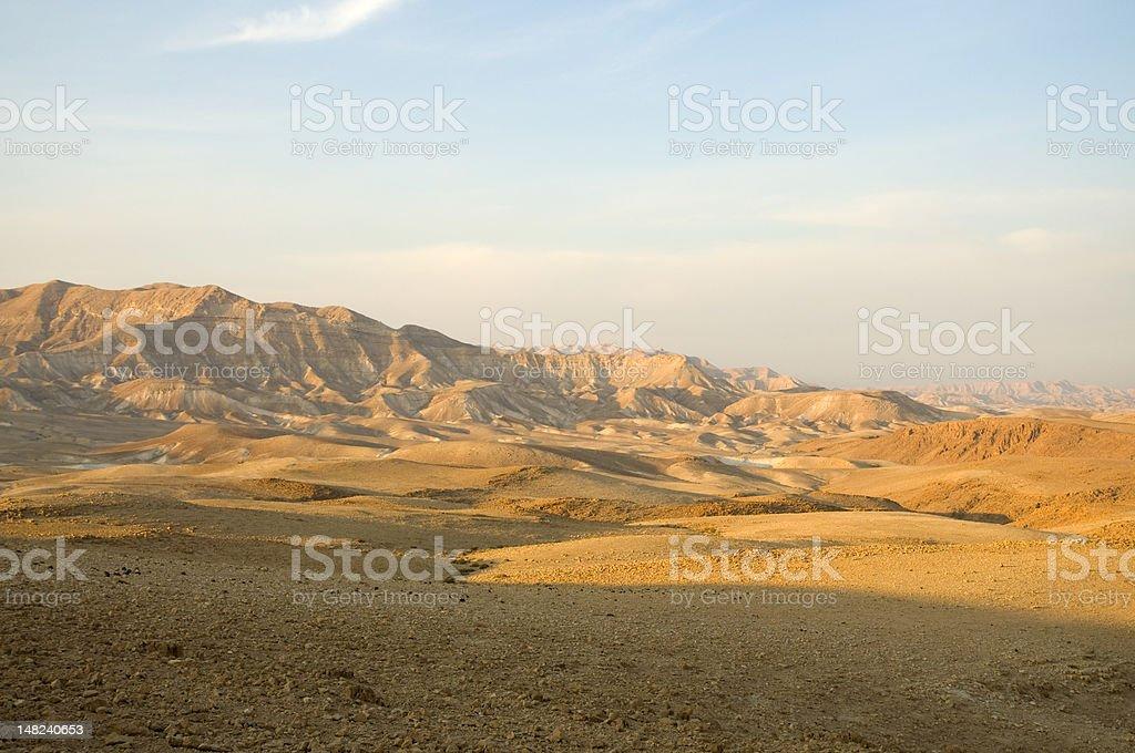 Desert landscape, Judean Mountains stock photo