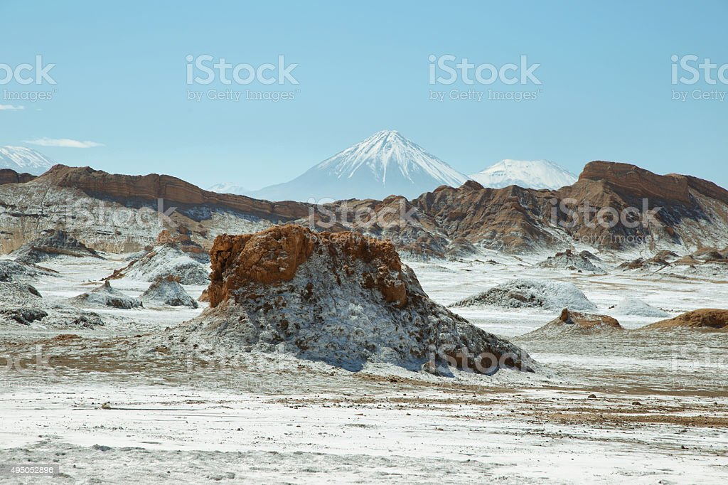 Desert landscape of Valley of the Moon stock photo