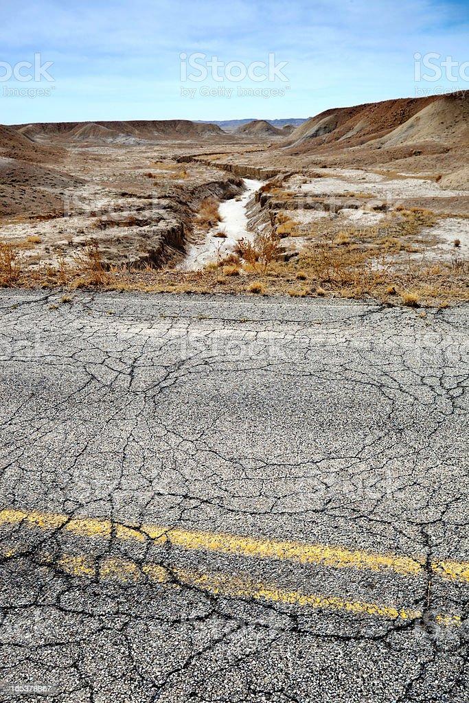 desert landscape road stock photo