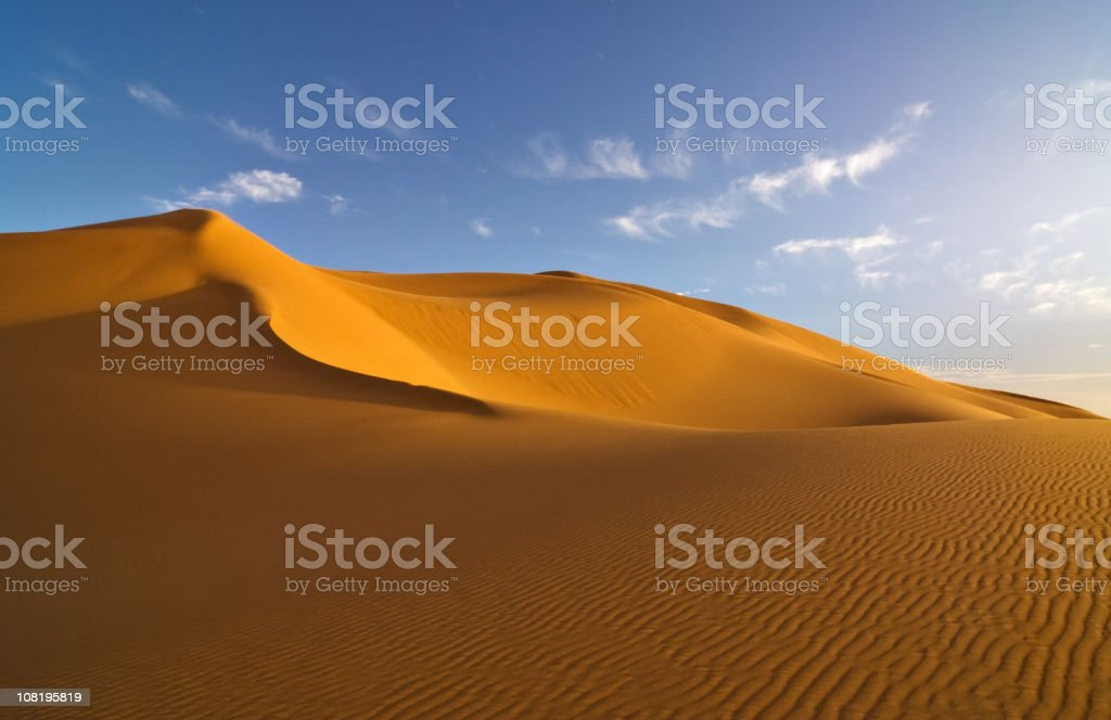 Desert Landscape with Sand Dunes stock photo