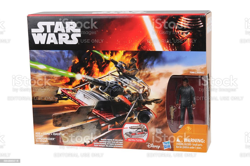 Desert Landspeeder Toy Vehicle stock photo