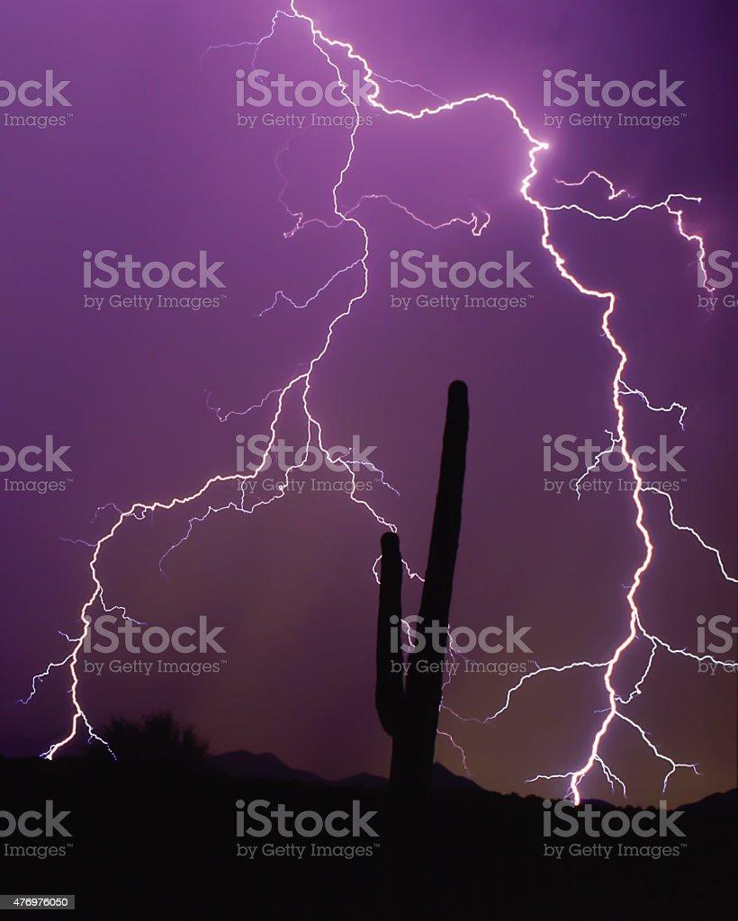 Desert Lightning stock photo
