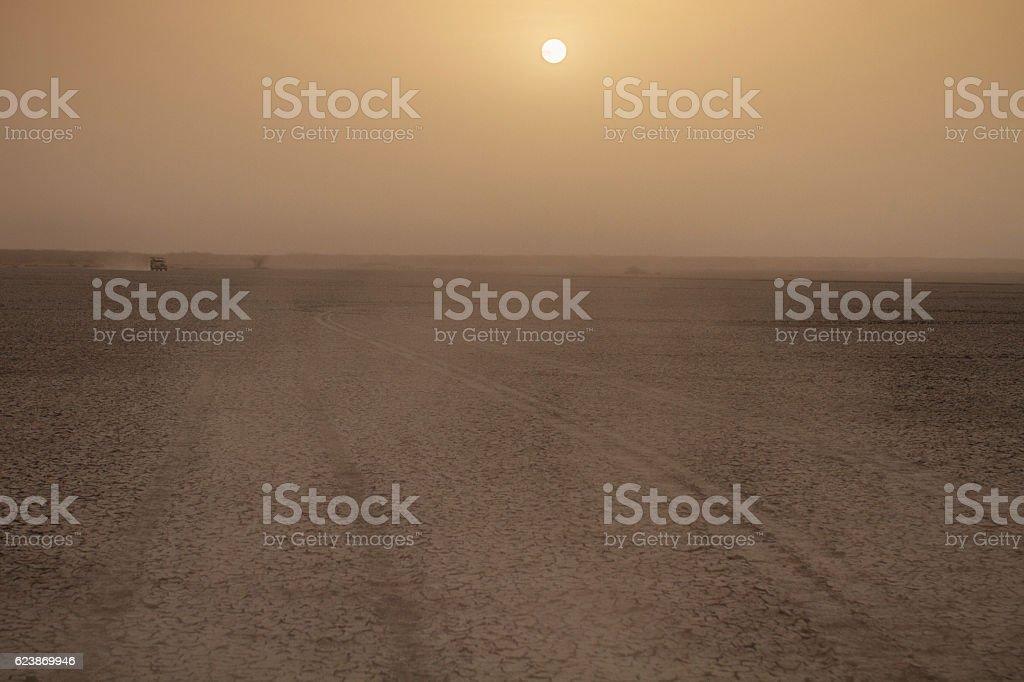 desert little rann of kutch stock photo