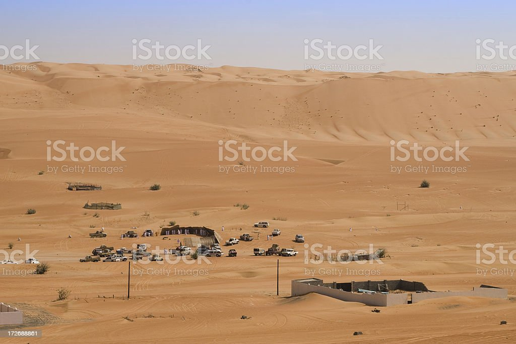 Desert meeting in Oman stock photo