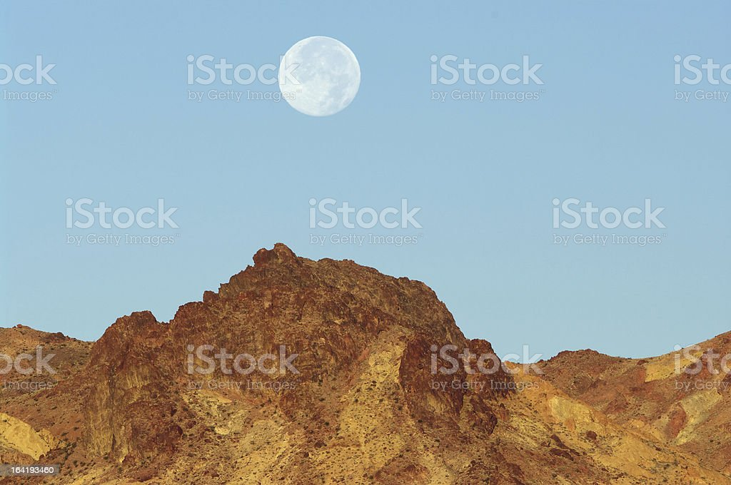 Desert Moonset royalty-free stock photo