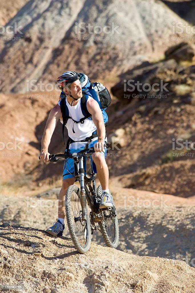 Desert Mountain Biker royalty-free stock photo