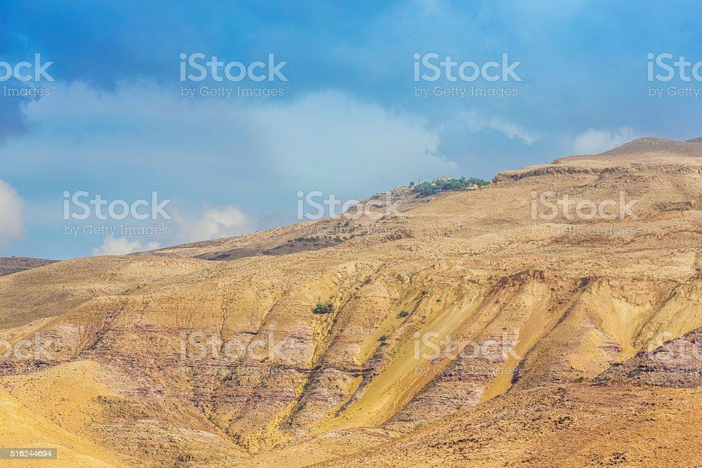 desert mountain landscape, Jordan, Middle East stock photo
