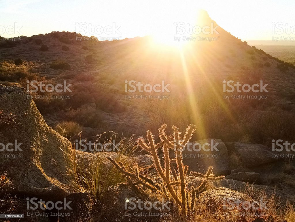 desert mountain landscape sunset royalty-free stock photo