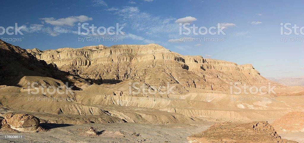 Desert mountains panorama stock photo