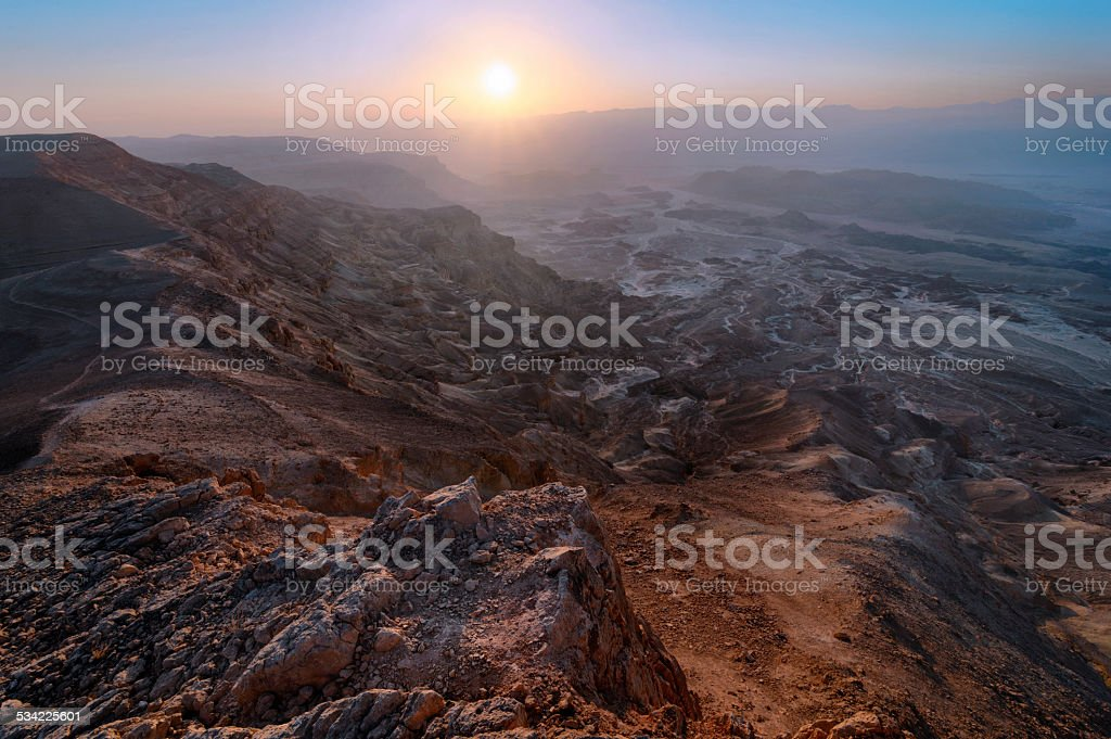 Desert mountains stock photo