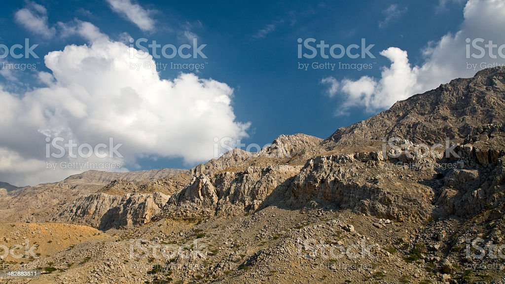 Desert Mountains United Arab Emirates Panoramic royalty-free stock photo