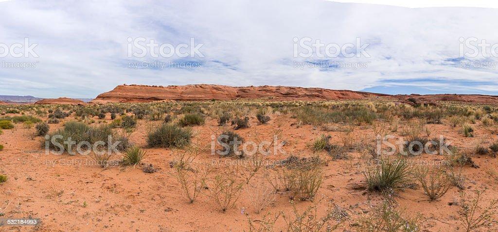Desert near Lake Powell (Coconino County, Arizona) stock photo