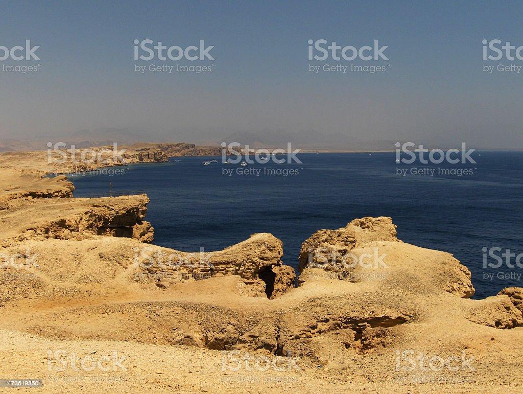 Desierto cerca del mar rojo foto de stock libre de derechos
