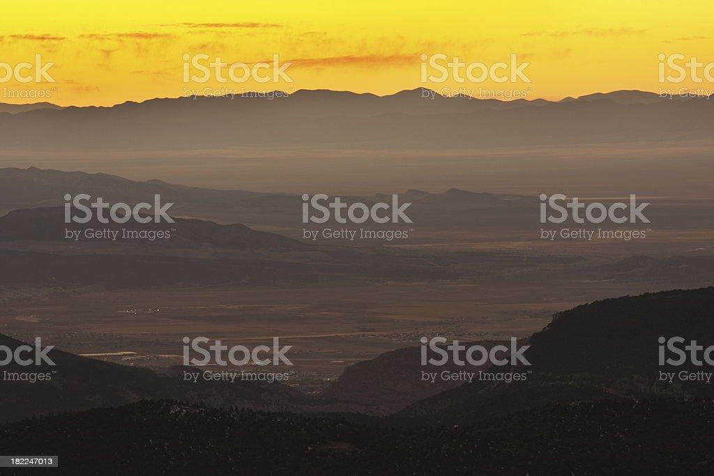Desert Night Landscape Silhouette royalty-free stock photo