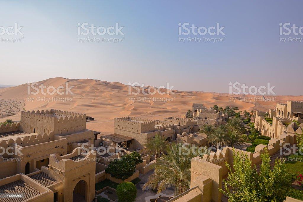 Desert oasis stock photo